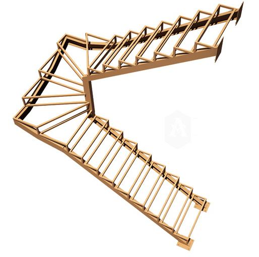 Забежные металлические лестницы своими руками