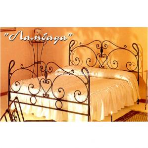 Фото кованой кровати Ламбада