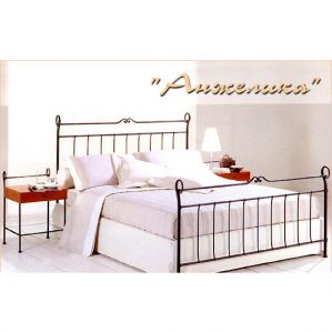 Фото кованой кровати Анжелика