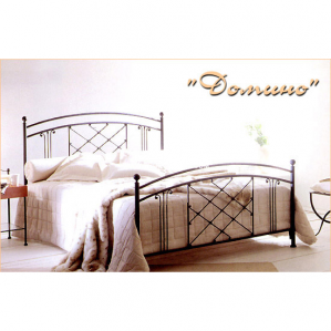 Фото кованой кровати Домино